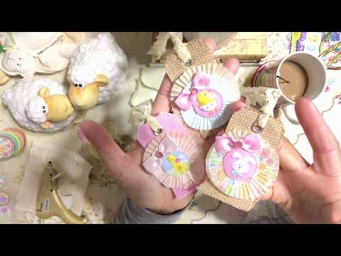 #9  Easter 🐇 Day Series 2018 - Burlap & Canvas DIY Gift Tags -  Embellishments