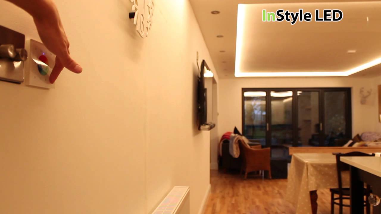 Rgbw led strip lights kitchen lighting project youtube workwithnaturefo