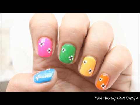 Easy Nail Designs For Kids & Beginners (Nail Art Using Toothpick)
