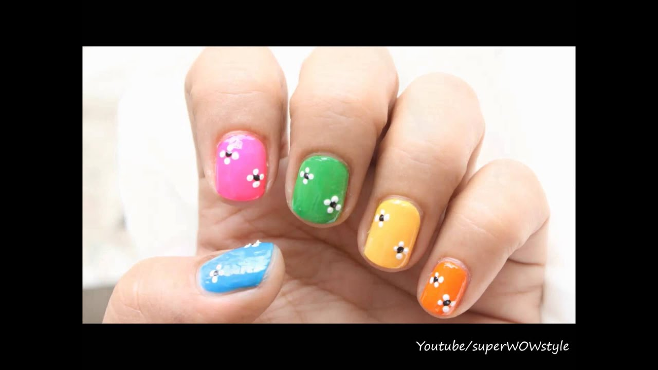 Easy Nail Designs For Kids & Beginners (Nail Art Using Toothpick) - YouTube - Easy Nail Designs For Kids & Beginners (Nail Art Using Toothpick
