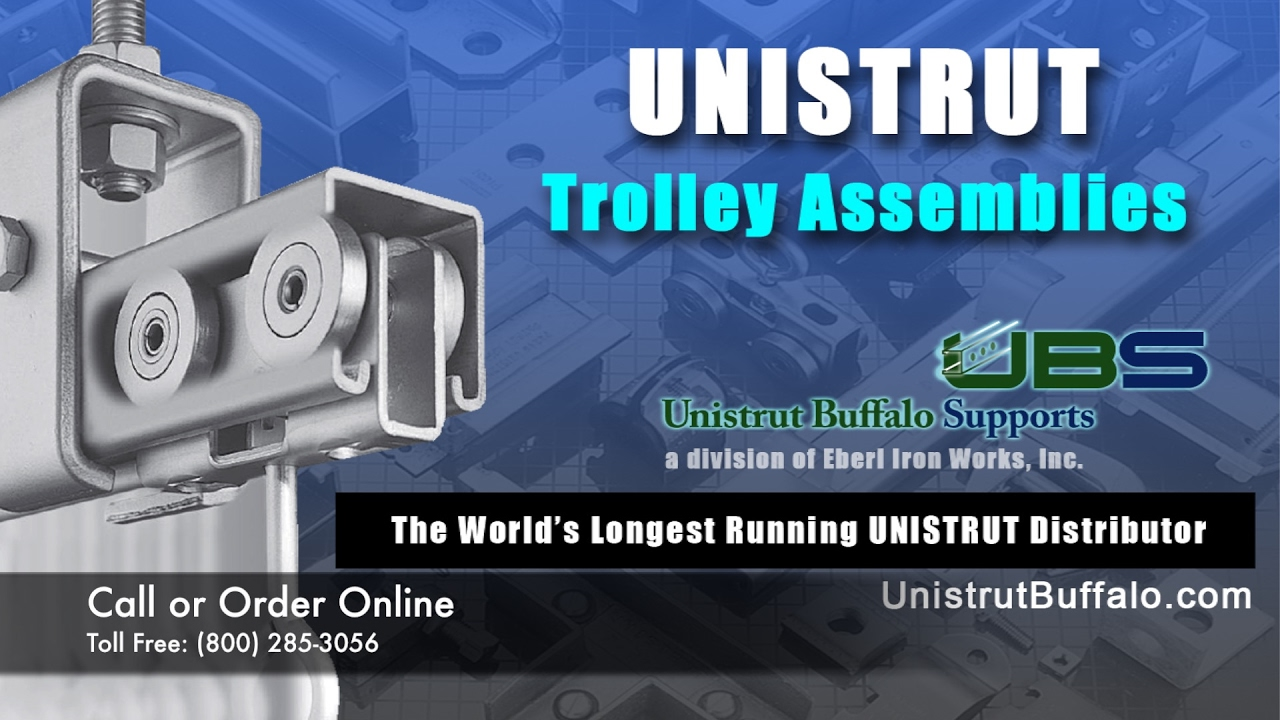 Mounting Options For UNISTRUT Trolley Assemblies: SEE SPECIAL OFFER BELOW    YouTube