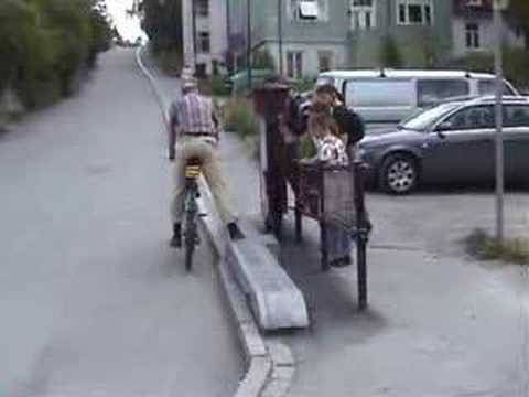 Bicycle Lift In Trondheim Norway Youtube