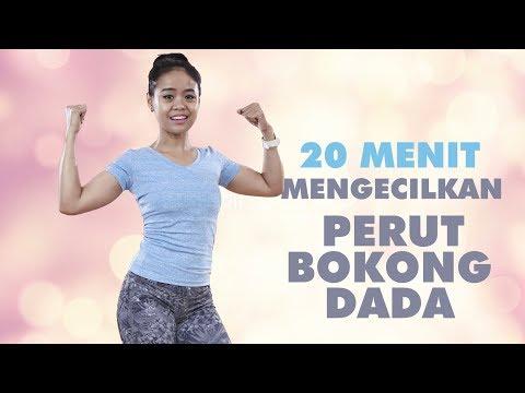 Latihan 20 Menit Cara Mengecilkan Perut , Dada Dan Bokong, Yang Efektif