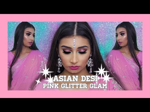 Asian Desi Pink Glitter Glam ▷ Marc Zapanta