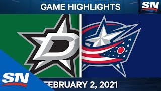 NHL Game Highlights | Stars Vs. Blue Jackets - Feb. 2, 2021