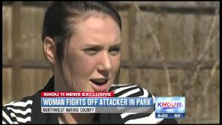 Woman fights off attacker in NW Harris County park