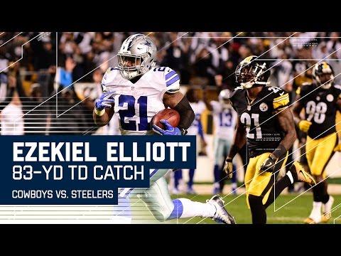 Ezekiel Elliott Goes 83 Yards for the TD! | Cowboys vs. Steelers | NFL