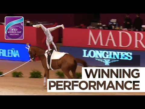 Anna Cavallaro wins at Madrid Horse Week | FEI World Cup™ Vaulting