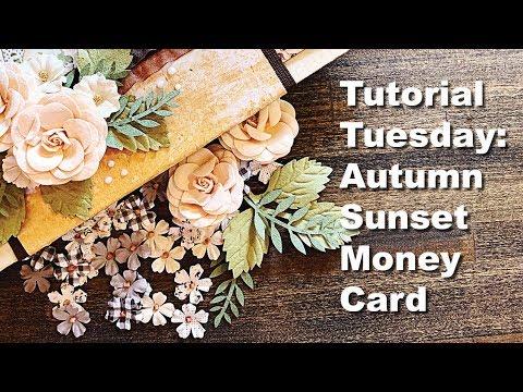Tutorial Tuesday: Prima Marketing Autumn Sunset Money Holder Card thumbnail