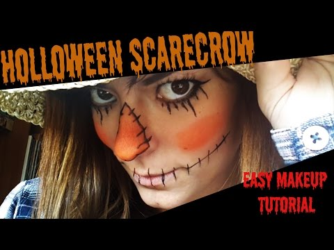 HALLOWEEN easy Scarecrow makeup TUTORIAL
