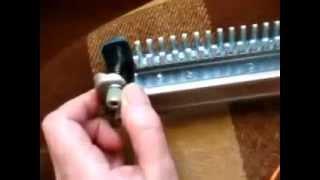 Урок 2. Настройка вязальной машинки Ивушка - установка планок со сдвигом