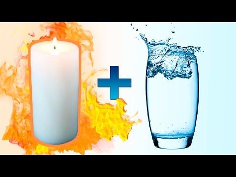 Hot Paraffin Wax + Water = Fiery Reaction!