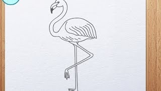 How to draw flamingo