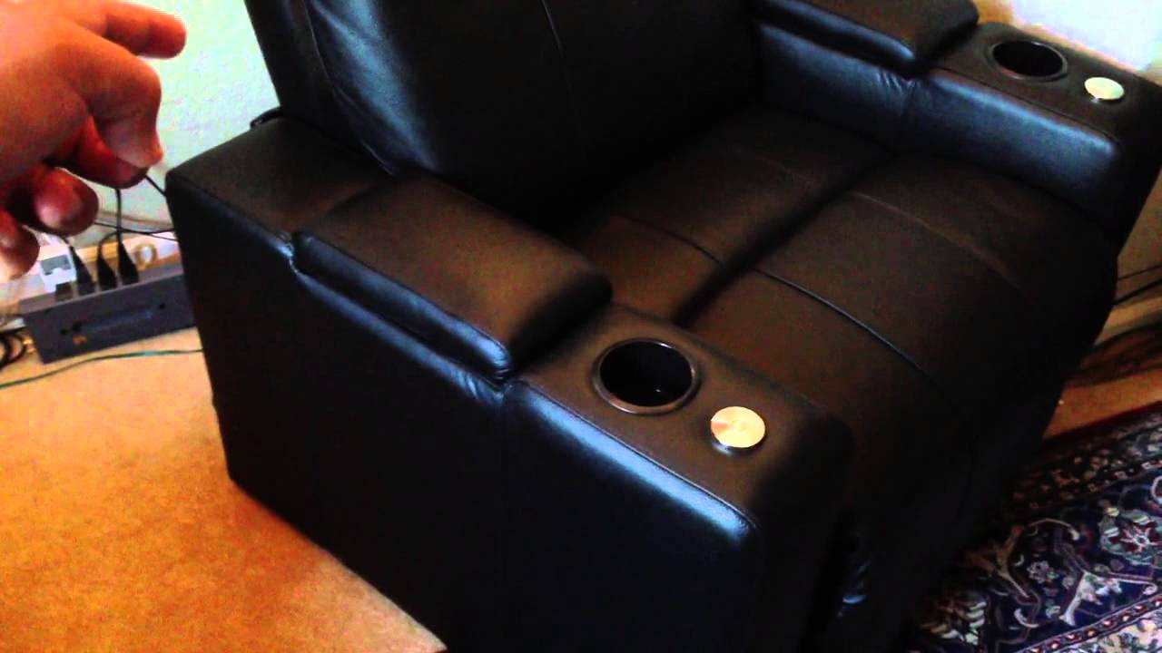 Home Theater Seating Row One Plaza   YouTube