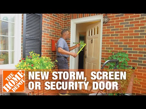 How To Measure For A New Storm, Screen Or Security Door | The Home Depot