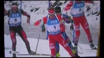 Simon Eder gewinnt Ruhpolding Biathlon, 12,5km Verfolgung (Pursuit)