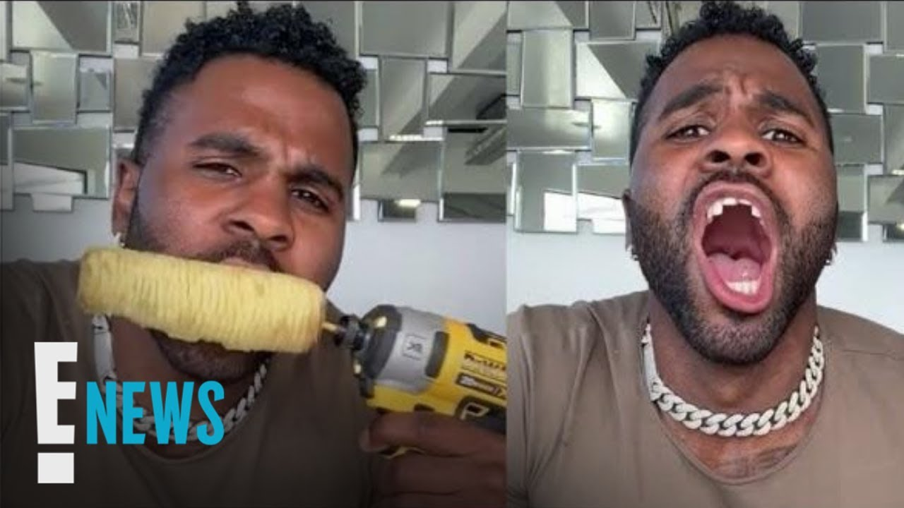 Did Jason Derulo chip his tooth while eating corn with a power drill?