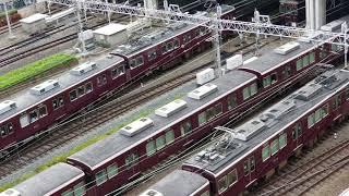 20180806 081351 新阪急ホテルアネックスより阪急梅田駅の朝のラッシュ