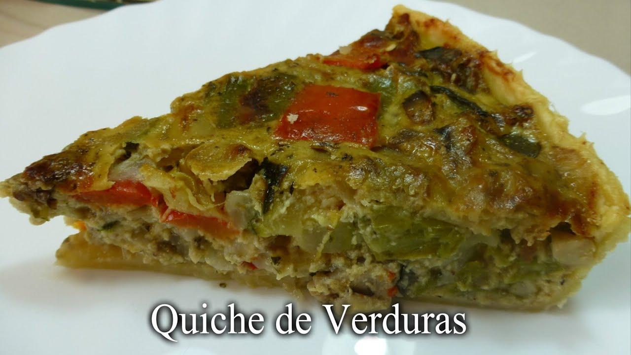 Quiche de verduras receta f cil youtube for Quiche de verduras facil