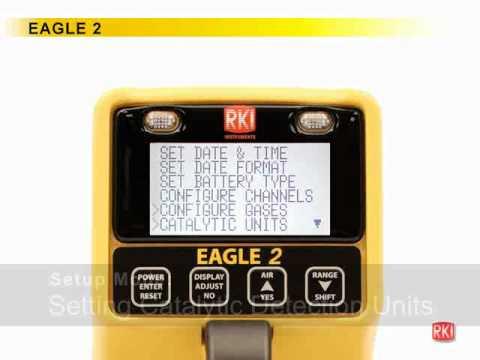 Eagle 2 gas monitor Setup Mode