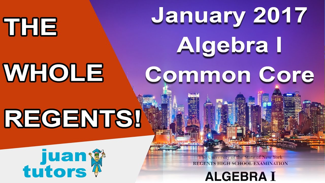 january 2017 algebra i regents the whole test common. Black Bedroom Furniture Sets. Home Design Ideas