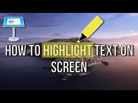 How To Highlight Text on Screen | Apple Keynote Tutorial