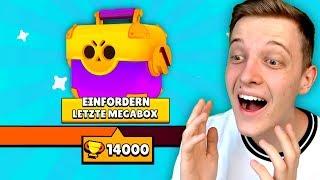 ICH HABE 14.000🏆 erreicht! *OMG* | LETZTE GRATIS Mega Box öffnen! | Brawl Stars deutsch