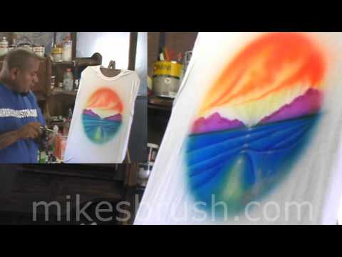 How to airbrush a scenic Ocean design