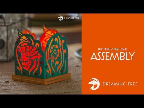 Free SVG - Butterfly Tea Light - Assembly Tutorial
