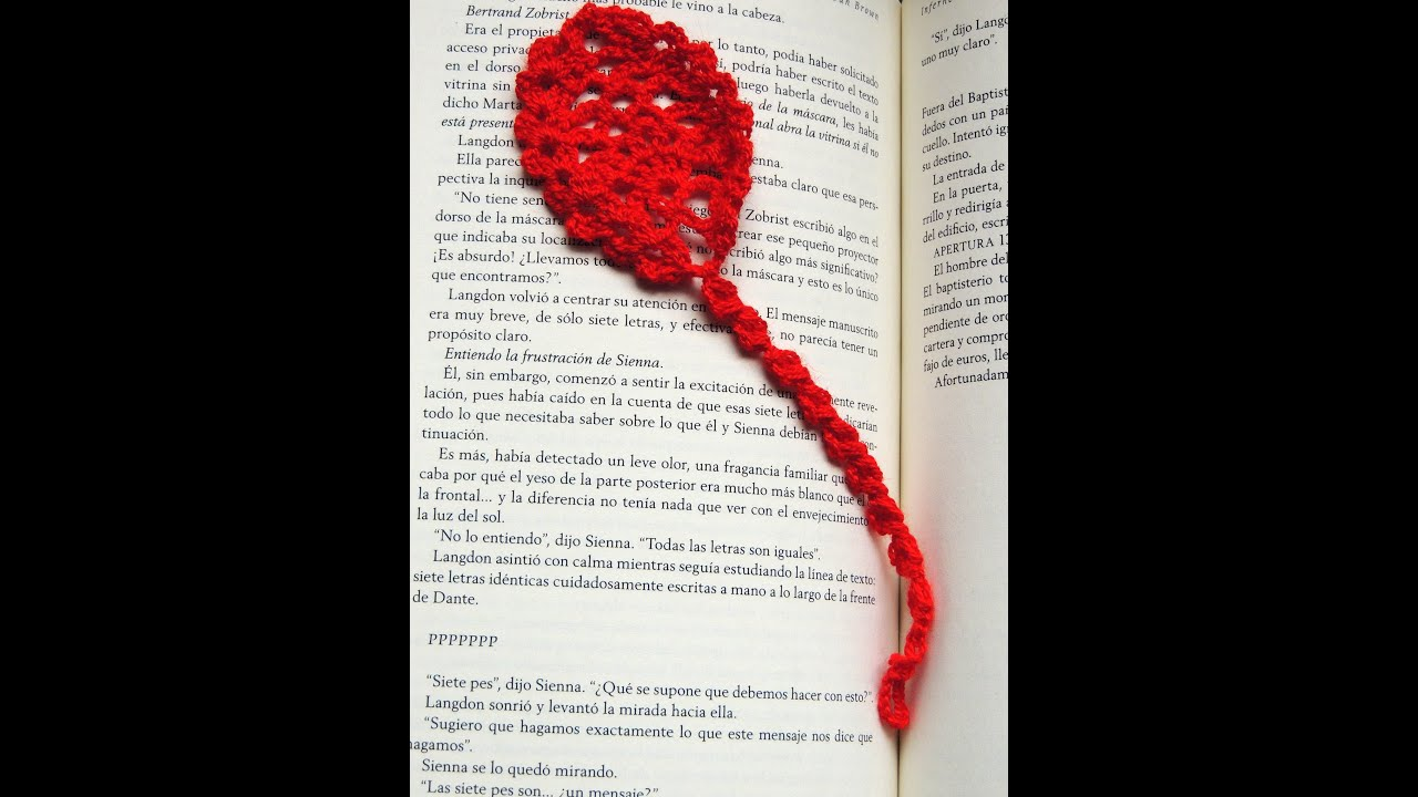 Crochet : Marcador de Libros # 2 - YouTube