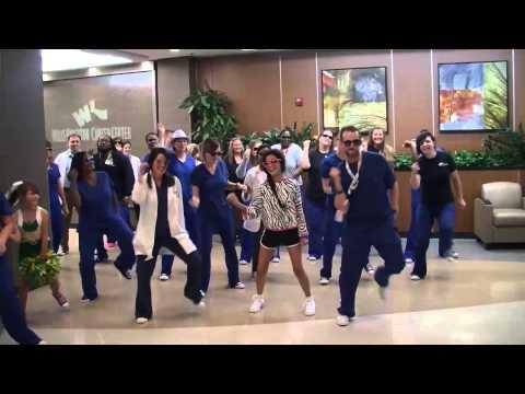 Willis-Knighton Cancer Center Proton Radiation Team Suprises Sophia With The Whip Nae Nae Flashmob