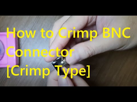 CCTV Connector - how to Splice BNC Crimp type without Ruler