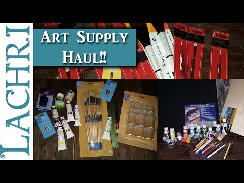 My Giant Art Supply Haul w/ Lachri