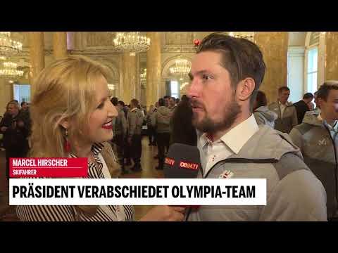 Präsident verabschiedet Olympia-Team: Marcel Hirscher im Interview