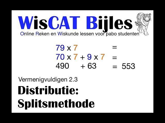 Splitsmethode - WisCAT Werkboek: Vermenigvuldigen 2.3