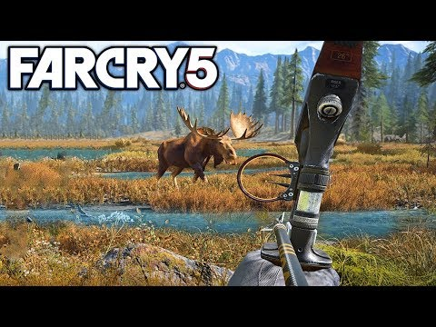 Far Cry 5 Hunting Every Animal, And Fishing Gameplay! (Far Cry 5)