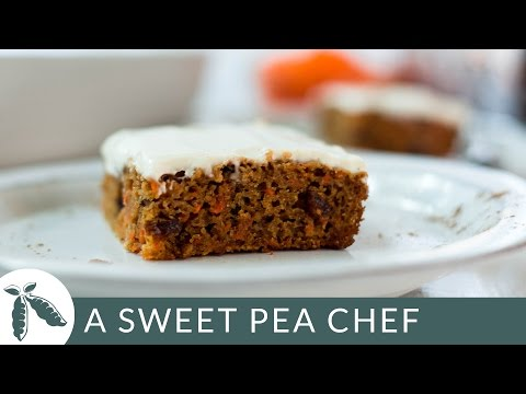 Healthy Carrot Cake Recipe | A Sweet Pea Chef