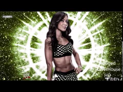 AJ Lee 1st WWE Theme Song '' Right Now '' 2011