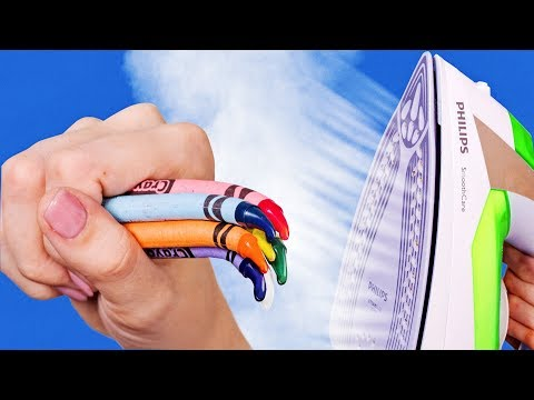 COLORFUL CRAYON IDEAS AND HACKS