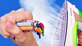 COLORFUL CRAYON IDEAS AND HACKS thumbnail