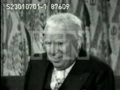 Charlie Chaplin Interview clip 1957