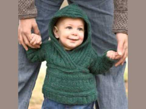 Hoodie Knitting Pattern For Babies And Toddlers : Free Baby Sweaters Knitting Patterns - YouTube
