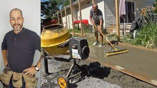 Gießen Sie Eine Betonplatte | Wie Baue ich einen Schuppen | Teil 2