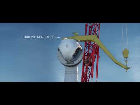 Climbing Crane Enercon/Lagerwey Completely Automated By ELMA Systems