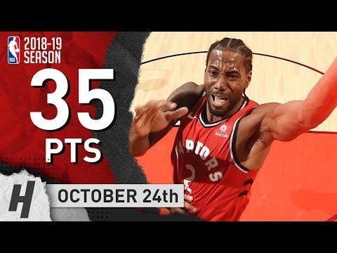 Kawhi Leonard CRAZY Highlights vs Timberwolves 20181024  35 Points, CLUTCH!