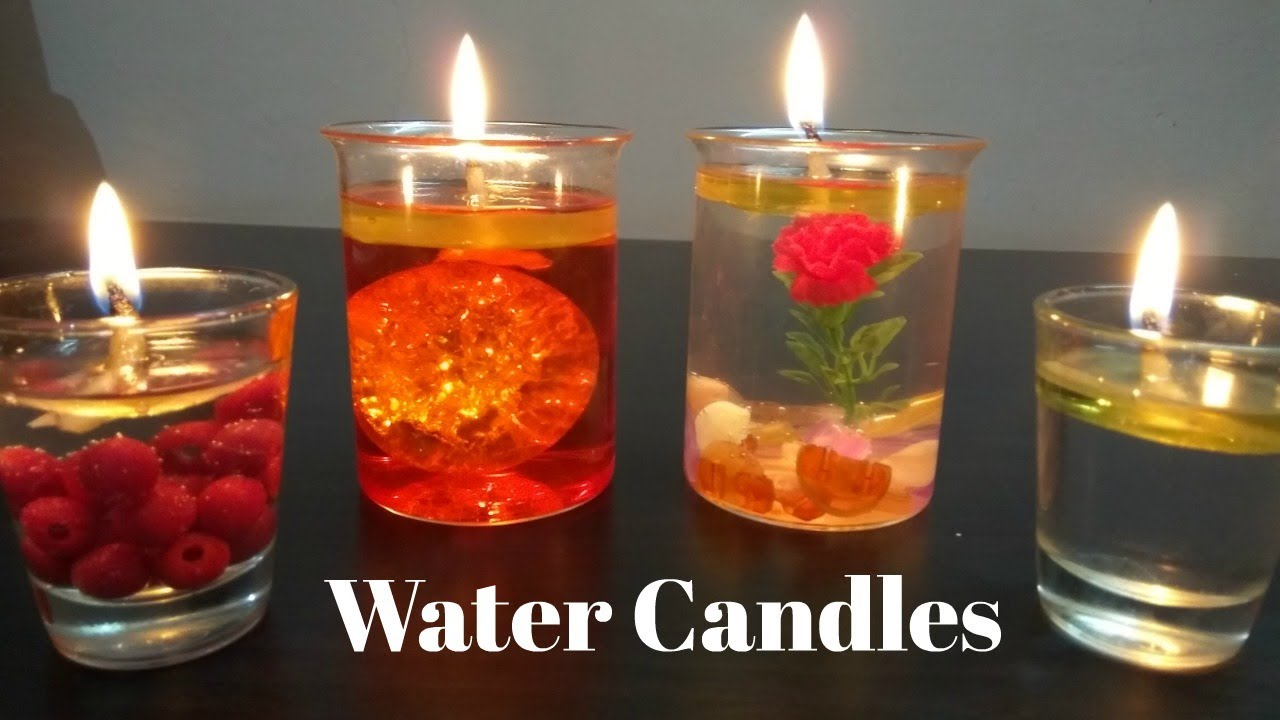 Diy Water Candles Making Candles With Water Youtube