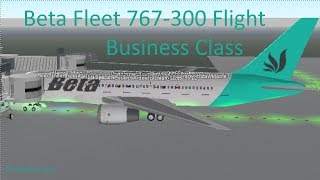 ROBLOX | Beta Fleet 767-300 Flight (Business Class)