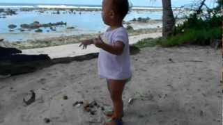 Nauru - Anna outside Capelles