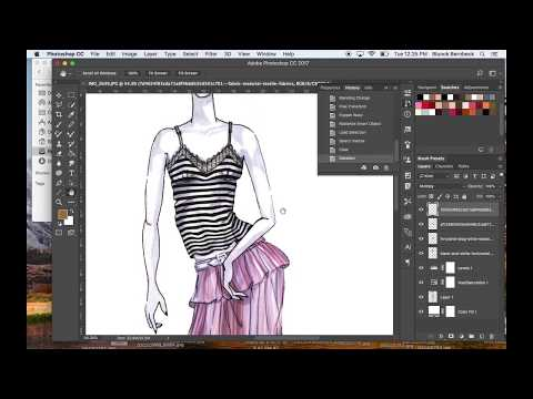 How To Use Puppet Warp In Photoshop For Fashion Illustrations