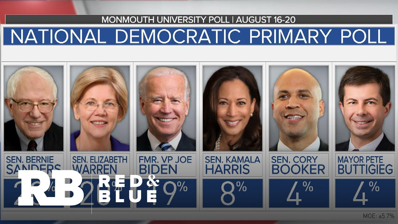 Polls show Biden, Sanders and Warren at top of 2020 Democratic field